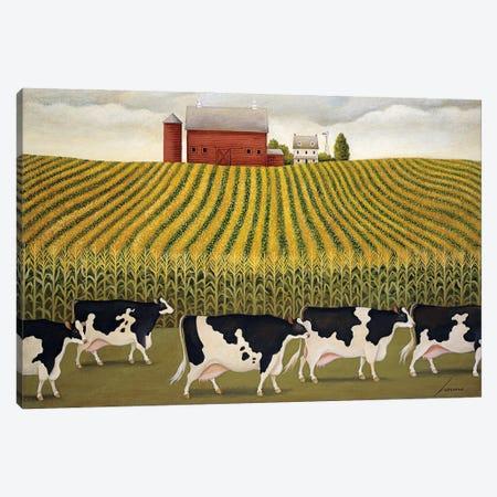 Nebraska Corn Field Canvas Print #LWE88} by Lowell Herrero Canvas Art Print