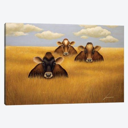 Prairie Trio Canvas Print #LWE98} by Lowell Herrero Canvas Artwork
