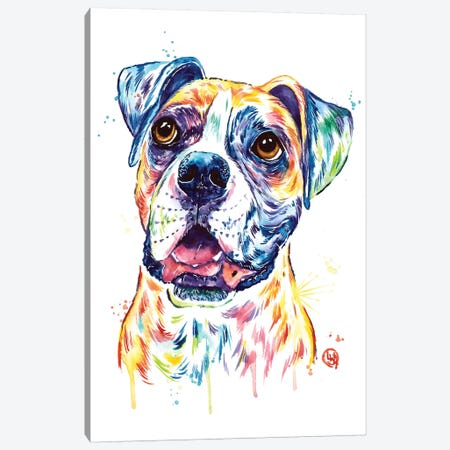 Boxer Canvas Print #LWH100} by Lisa Whitehouse Canvas Art