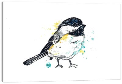 Chickadee - Itty Bitty Chicky Canvas Art Print