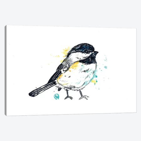 Chickadee - Itty Bitty Chicky Canvas Print #LWH103} by Lisa Whitehouse Canvas Wall Art