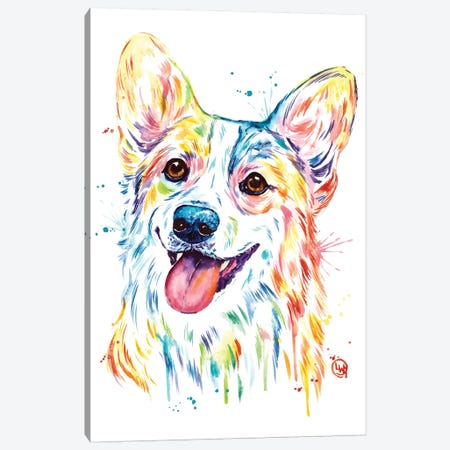 Corgi Canvas Print #LWH104} by Lisa Whitehouse Canvas Art Print