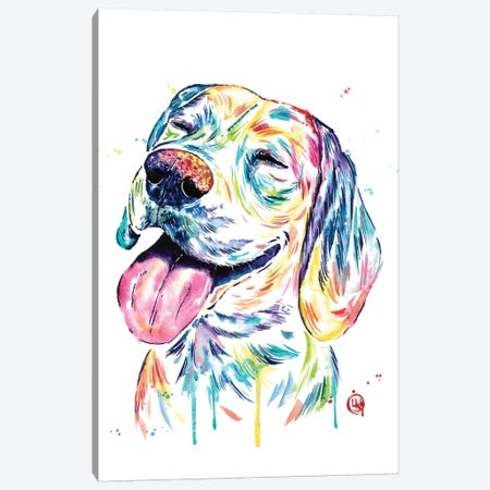 Loveable Beagle Canvas Print #LWH105} by Lisa Whitehouse Canvas Art Print