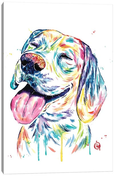 Loveable Beagle Canvas Art Print