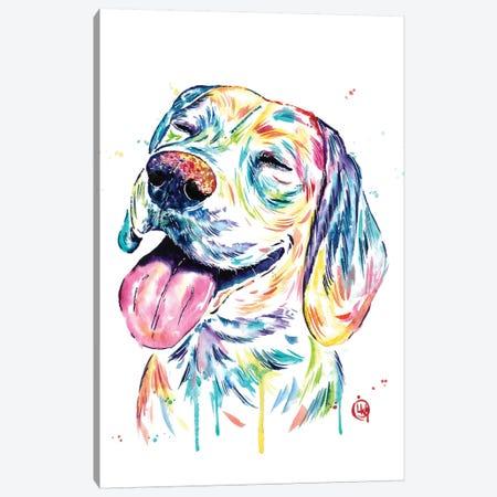 Loveable Beagle Canvas Print #LWH105} by Lisa Whitehouse Canvas Art Print