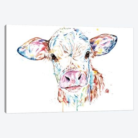 Manitoba Cow Canvas Print #LWH106} by Lisa Whitehouse Art Print