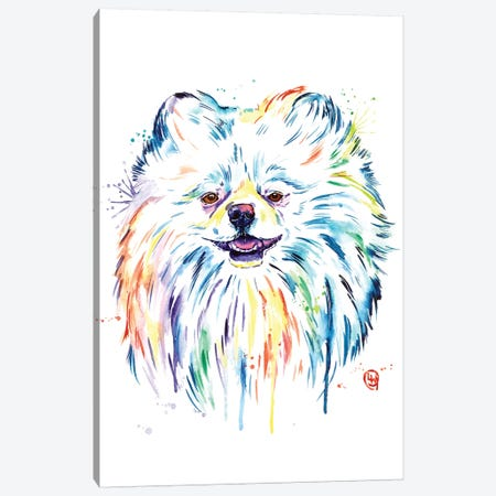 Pomeranian - Leo Canvas Print #LWH109} by Lisa Whitehouse Canvas Artwork