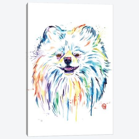 Pomeranian - Leo Canvas Print #LWH109} by Lisa Whitehouse Canvas Artwork