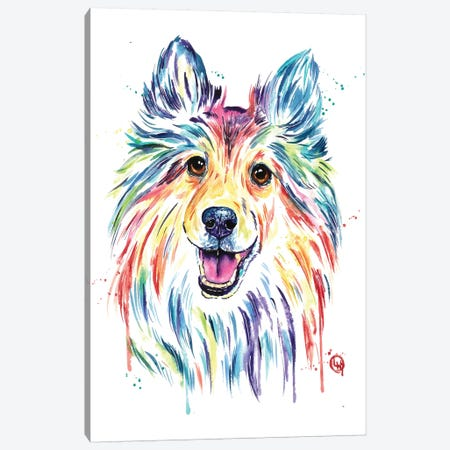 Sheltie Canvas Print #LWH110} by Lisa Whitehouse Canvas Art Print