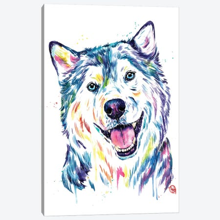 Siberian Husky Canvas Print #LWH111} by Lisa Whitehouse Canvas Art Print