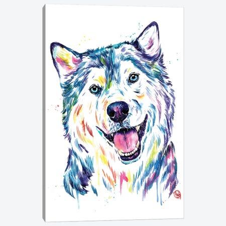 Siberian Husky Canvas Print #LWH111} by Lisa Whitehouse Canvas Art Print