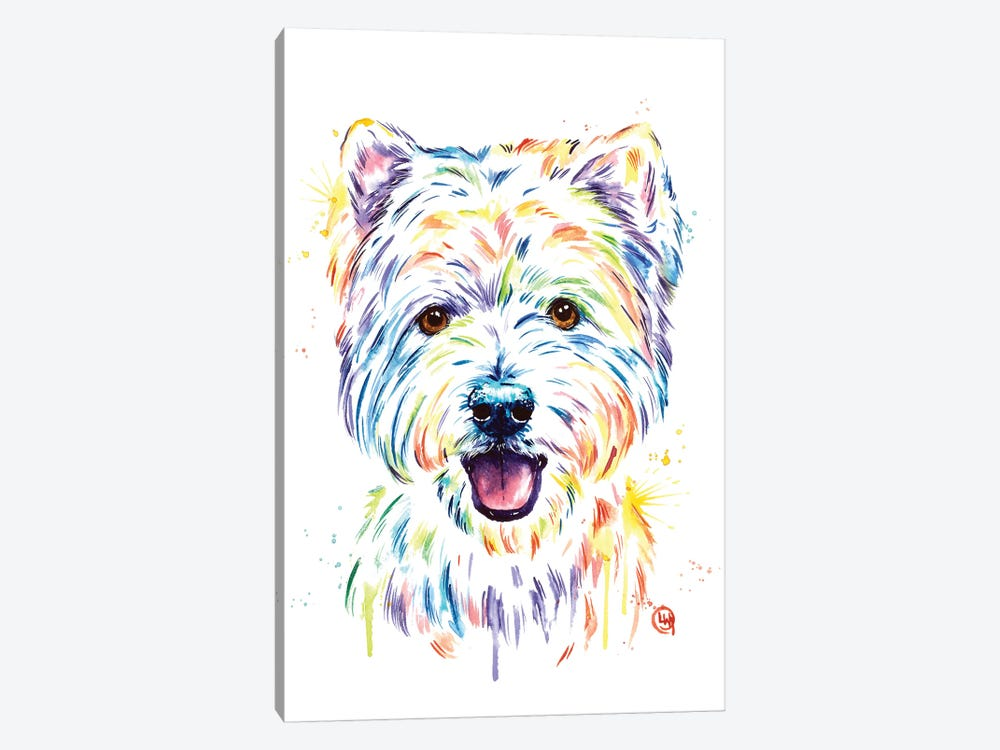Westie by Lisa Whitehouse 1-piece Canvas Art Print