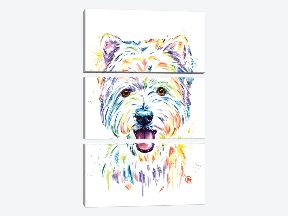 Westie by Lisa Whitehouse 3-piece Art Print