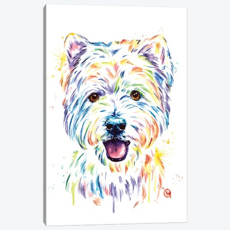 Westie Canvas Print #LWH114} by Lisa Whitehouse Canvas Wall Art