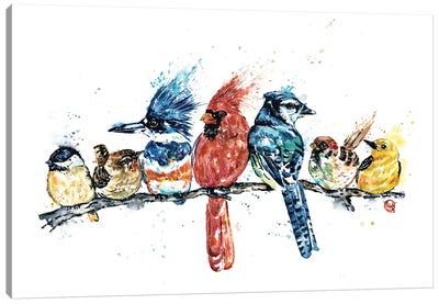 Birds on a Branch Canvas Art Print