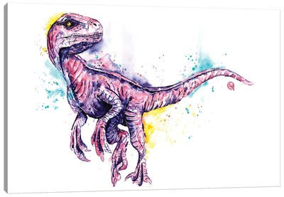 Blue the Raptor Canvas Art Print