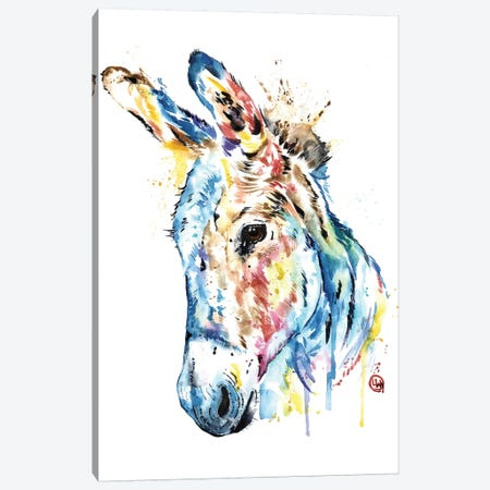 Donkey Canvas Print #LWH121} by Lisa Whitehouse Canvas Artwork