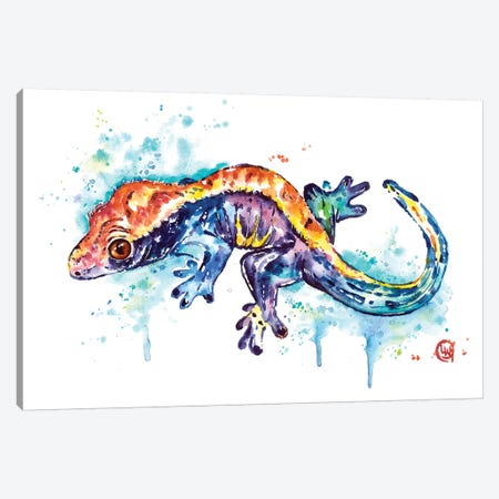 Gecko Canvas Print #LWH125} by Lisa Whitehouse Canvas Print