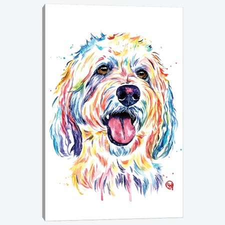 Goldendoodle - Charlie Canvas Print #LWH126} by Lisa Whitehouse Canvas Art Print