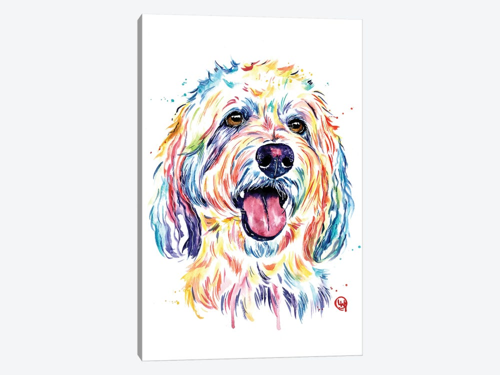 Goldendoodle - Charlie by Lisa Whitehouse 1-piece Canvas Artwork