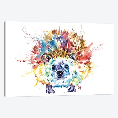 Hedgehog Canvas Print #LWH127} by Lisa Whitehouse Art Print