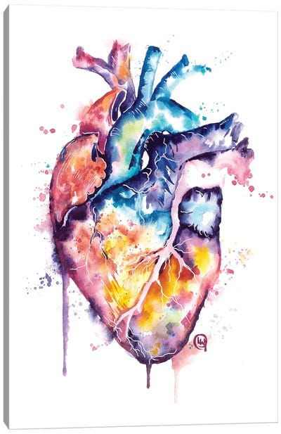 Human Heart Canvas Art Print