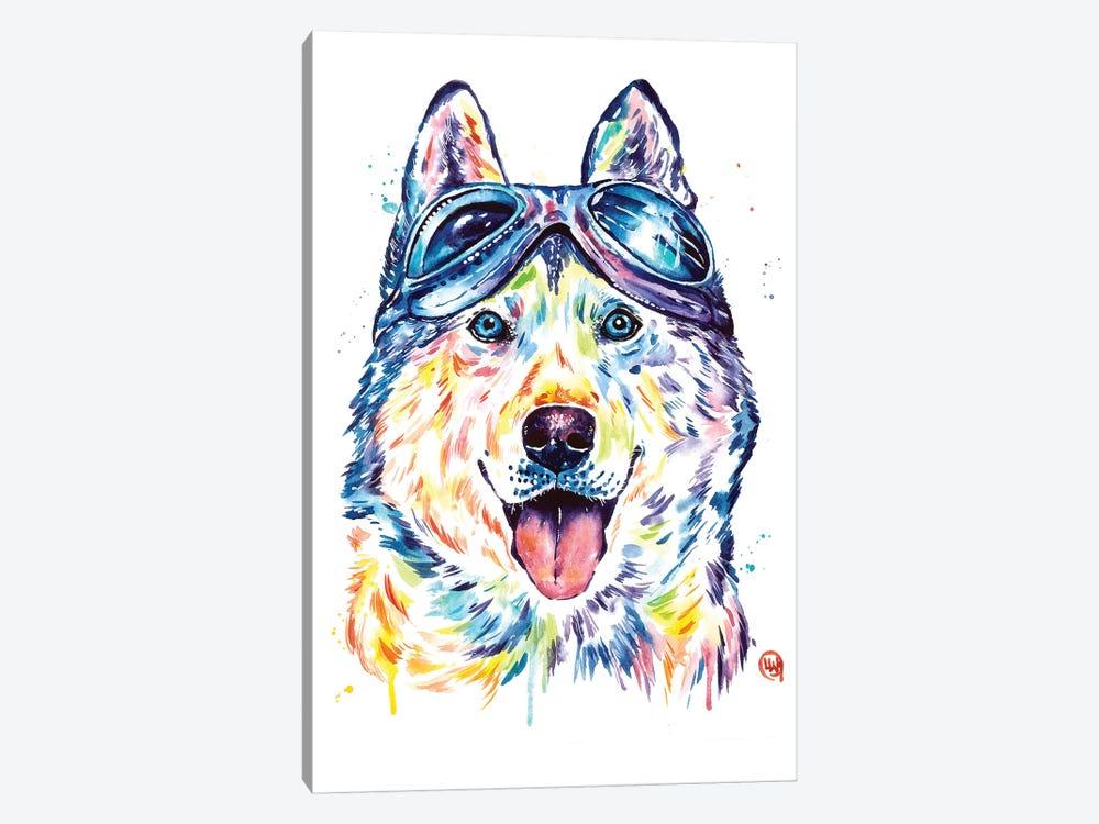 Husky Aviators by Lisa Whitehouse 1-piece Art Print