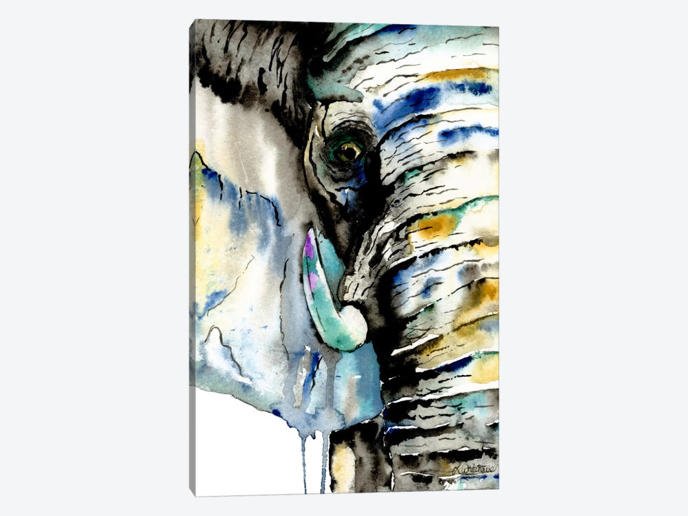 Elephant by Lisa Whitehouse 1-piece Canvas Artwork
