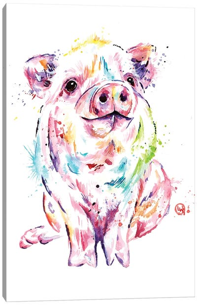 Piggy Canvas Art Print