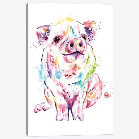 Piggy Canvas Print #LWH131} by Lisa Whitehouse Canvas Art Print