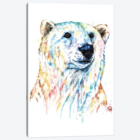 Portrait of a Polar Bear Canvas Print #LWH132} by Lisa Whitehouse Canvas Art Print