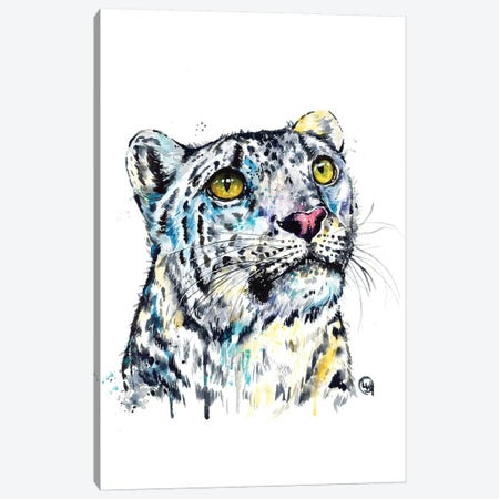 Snow Leopard Canvas Print #LWH134} by Lisa Whitehouse Canvas Artwork