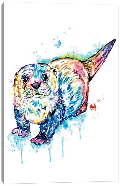 Adorable Otter Canvas Art Print