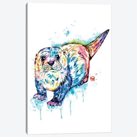 Adorable Otter Canvas Print #LWH135} by Lisa Whitehouse Canvas Wall Art