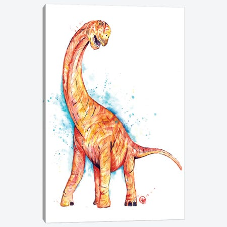 Long Neck Canvas Print #LWH136} by Lisa Whitehouse Canvas Wall Art