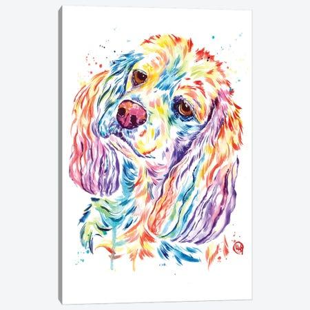 Curious Cocker Canvas Print #LWH137} by Lisa Whitehouse Canvas Art