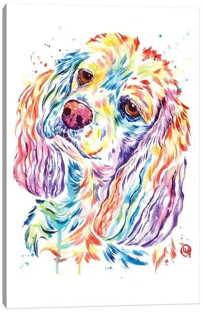 Curious Cocker Canvas Art Print