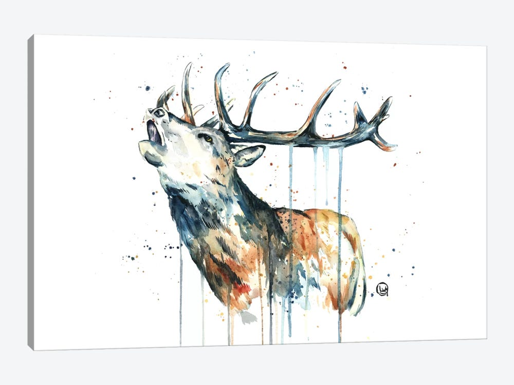 Elk Calling by Lisa Whitehouse 1-piece Canvas Art Print