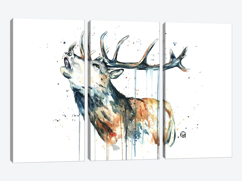 Elk Calling by Lisa Whitehouse 3-piece Art Print