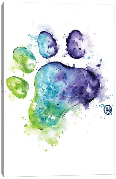Purple Paw Canvas Art Print
