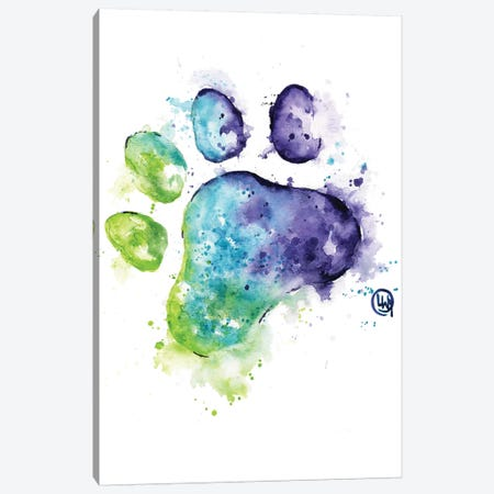 Purple Paw Canvas Print #LWH140} by Lisa Whitehouse Canvas Art