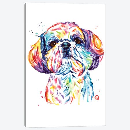 Kiki The Shih Tzu Canvas Print #LWH142} by Lisa Whitehouse Canvas Art