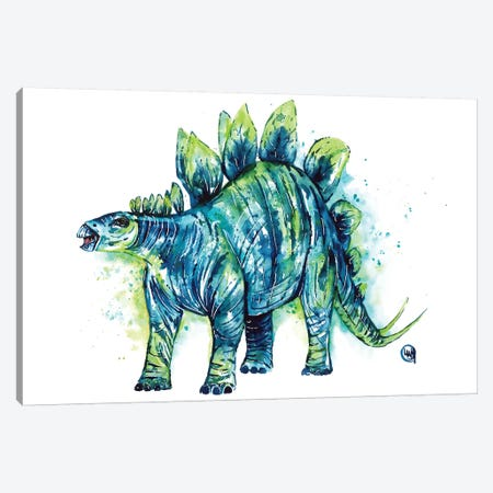Spike Tail The Stegosaurus Canvas Print #LWH143} by Lisa Whitehouse Canvas Artwork