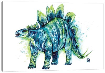 Spike Tail The Stegosaurus Canvas Art Print