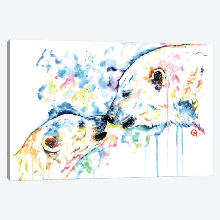 Polar Bear Love Canvas Print #LWH145} by Lisa Whitehouse Canvas Print