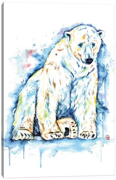 Polar Bear - Solitude Canvas Art Print