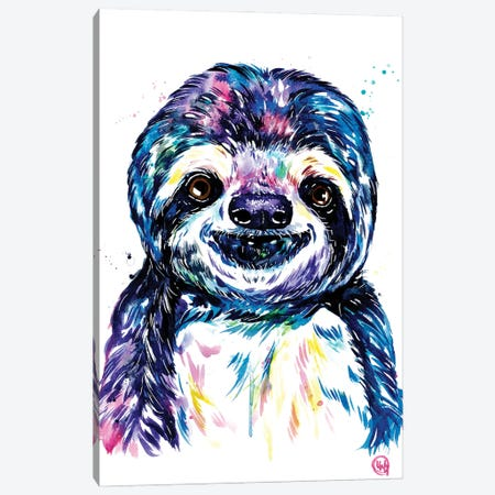 Susie The Sloth Canvas Print #LWH149} by Lisa Whitehouse Canvas Artwork