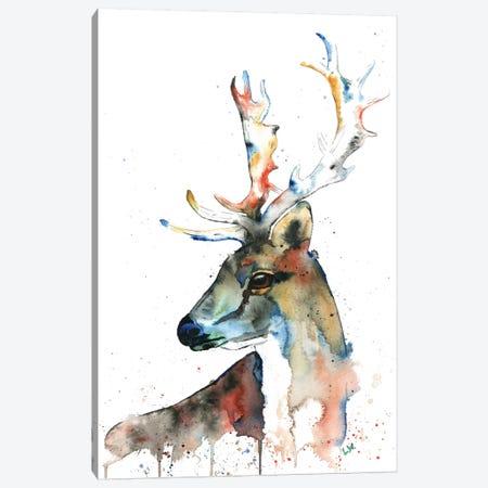 Fallow Deer Canvas Print #LWH14} by Lisa Whitehouse Canvas Artwork