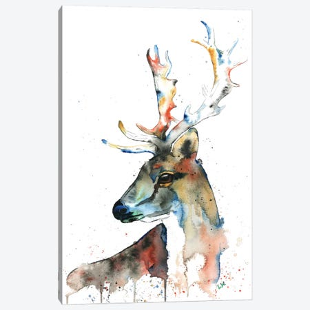 Fallow Deer Canvas Print #LWH14} by Lisa Whitehouse Canvas Artwork