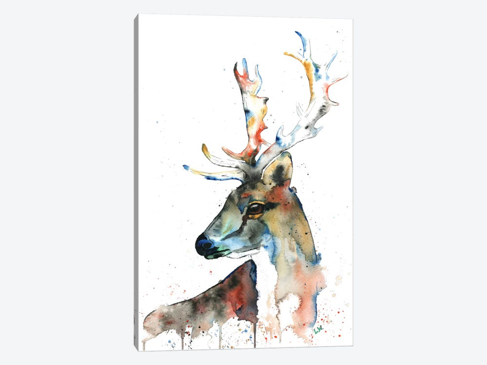 Fallow Deer by Lisa Whitehouse 1-piece Canvas Artwork